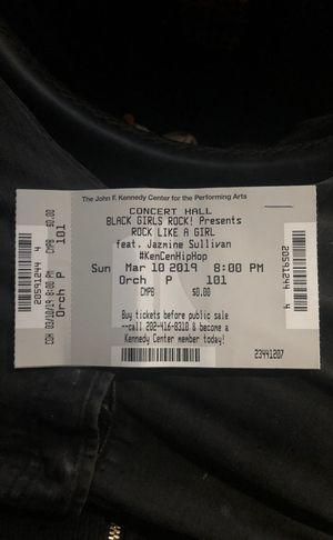Black girls rock CONCERT TICKETS FOR SALE for 8:pm show for Sale in Washington, DC