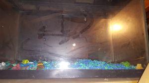 10 gallon aquarium and Hood incandescent for Sale in Stevenson, WA