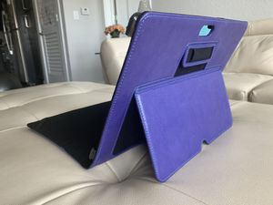 Microsoft surface laptop case purple leather with kickstand for Sale in Tampa, FL