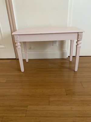 Antique Shabby Chic Pastel Pink Wood cabinet vintage drawer for Sale in Riverside, CA