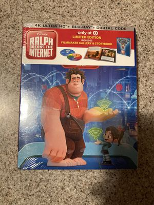 Ralph breaks the Internet 4K AND blu ray sealed for Sale in Lynwood, CA