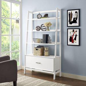 """Crosley Landon 38"""" 4 Shelf Bookcase in White for Sale in Las Vegas, NV"""