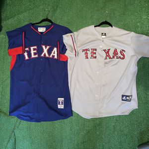 Majestic Texas Rangers Baseball MLB jersey for Sale in Fort Worth, TX
