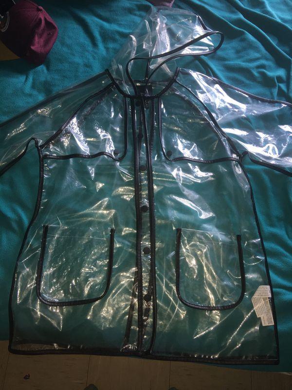 Forever 21 Black Rain Jacket