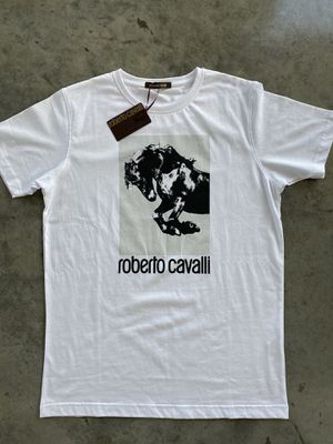 NEW Roberto Cavalli White / T-shirt size Large MSRP $209 for Sale in Miami, FL