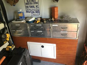 Contractor Trailer Shelving!!!! Shelving and cabinets only!!! for Sale in Fort Lauderdale, FL