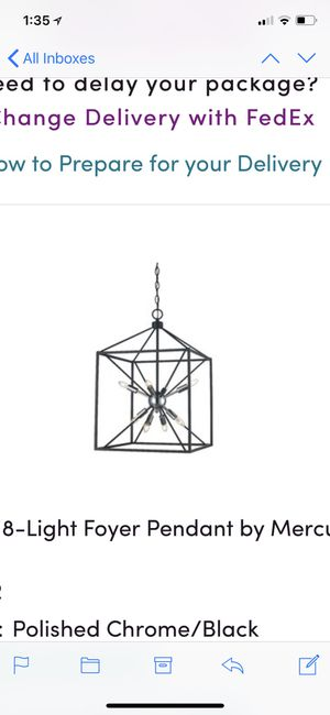Brand new in box designer 8 lights Chandelier for Sale in Oakton, VA