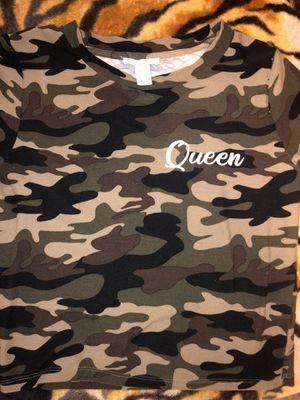 Queen camo shirt (size L) for Sale in Avondale, AZ