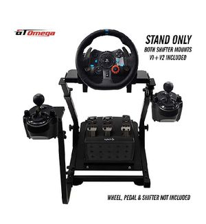 GT Omega Racing Wheel Stand PRO for Logitech G29 G920 with Shifter Mounts V1 & V2, Thrustmaster T500 T300 TX & TH8A - PS4 Xbox Fanatec for Sale in Los Angeles, CA