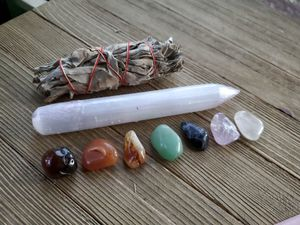 Chakra stone Healing/Balancing kit with Selenite and Sage bundle for Sale in Colorado Springs, CO