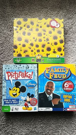 Family Games - Pictureka, Family Feud, and a Puzzle for Sale in Austin, TX