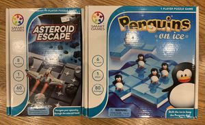 Penguins on Ice and Asteroid Escape 1-Player Puzzle board games for Sale in Seattle, WA