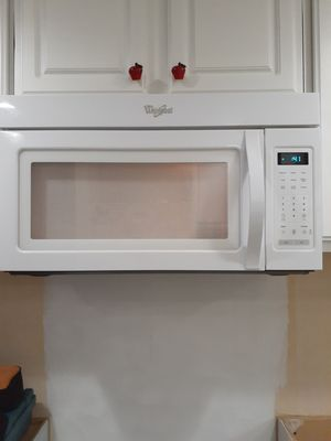 Whirlpool over the range microwave for Sale in Tacoma, WA