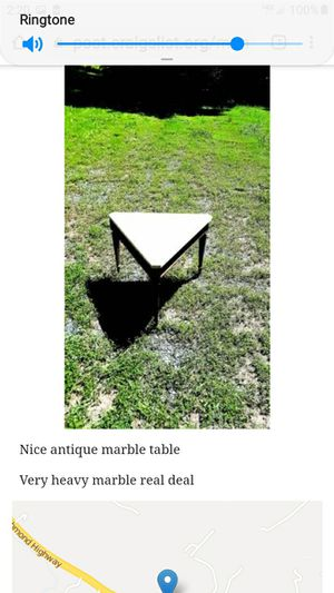 ANTIQUE MARBLE TABLE for Sale in Lynchburg, VA