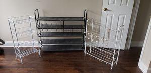 Metal shelves, shoe rack, door racks for Sale in Canonsburg, PA