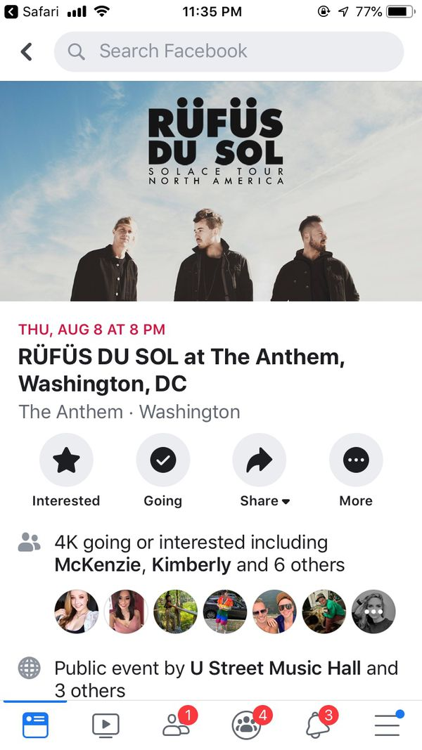 4- SOLD OUT Anthem DC tickets
