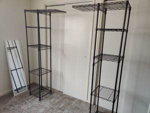 Closet Organizer with 2 Adjustable Rods. for Sale in Yardley, PA