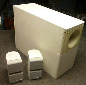 Bose Surround Sound System with 6 Cube Speakers - White for Sale in Corona, CA