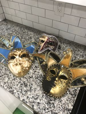 3 Venetian masks for Sale in Washington, DC