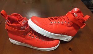 💯 AUTHENTIC NIKE AIR FORCE 1 SF AF1 TEAM ORANGE MID PREMIUM SIZE 9 BRAND NEW Supreme Deal!!! $65 PRICE FIRM for Sale in Raleigh, NC