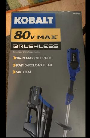 Brand new Kobalt 80v cordless brushless trimmer blower combo battery and charger included for Sale in Welcome, NC