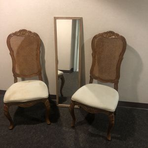 2 Dining Chairs & A Mirror, One Chair Needs Cleaning for Sale in San Diego, CA