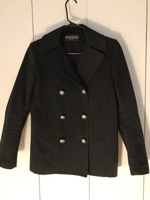 Authentic Balmain Black double breasted jacket for Sale in New York, NY