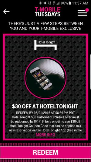 $30 Code for Hoteltonight App for Sale in Poway, CA