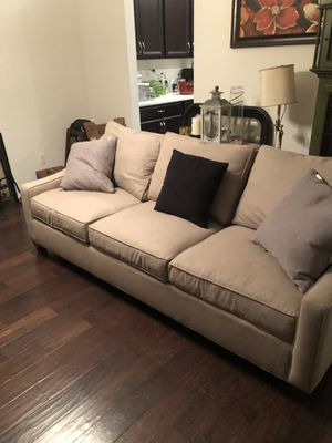 Nice couch with Calvin Klein throw pillows for Sale in Orlando, FL