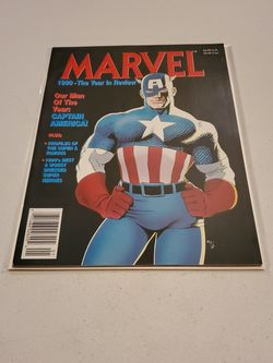Marvel Year In Review 1990 News Stand Edition, Captain America, Raw Unread And Ungraded, Near Mint Marvel Comic Book Magazine for Sale in Fresno,  CA