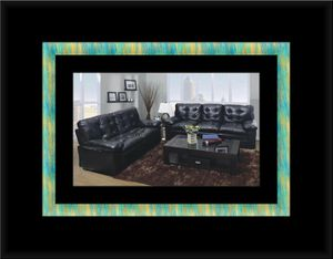 U6900 black bonded leather sofa and loveseat for Sale in Fairfax, VA