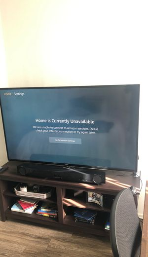 "60"" UHD Samsung Smart TV with Yamaha sound bar W/ remote for each for Sale in Los Angeles, CA"