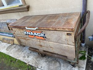 """Knaack job box toolbox 60"""" wide, 24"""" deep, 27"""" tall, w/steel cart and tools included for Sale in Long Beach, CA"""