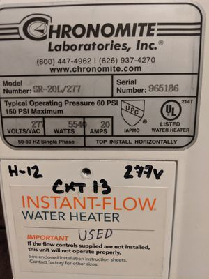 Chronomite Instant-Flow Water Heater for Sale in Seattle, WA