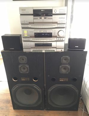 "FISHER TAD-9715 Studio 24 Radio, 24 Disk CD, cassette & dubber, surround sound 15"" WOOFERS for Sale in Fresno, CA"