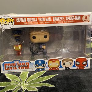 captain america funko set missing spidey tho for Sale in Bell, CA