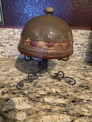 Cheese Plate with Lid and Stand for Sale in Henderson, NV