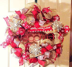 Burlap Mesh Welcome Wreath for Sale in Inwood, WV