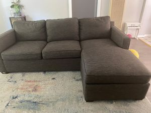 Reversible Section Crate&Barrel L shape sofa/sectional couch/reversible for Sale in Redwood City, CA