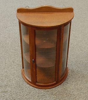 Antique Bow Front Miniature Hanging Curio Cabinet for Sale in Burlington, NC