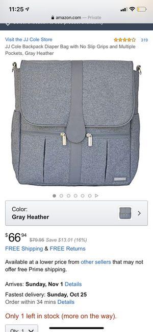 JJ COLE Diaper Bag for Sale in Alexandria, VA