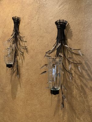 LARGE, TALL Candle Holder Wall Sconces for Sale in Eustis, FL