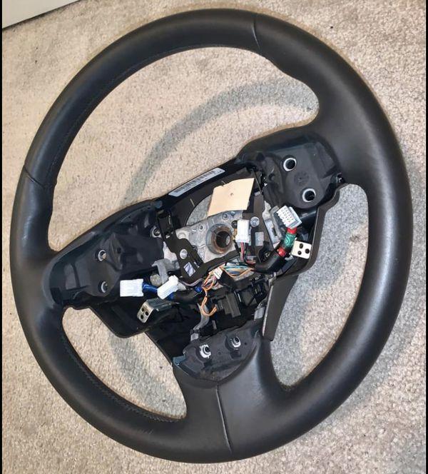 2009 - 2014 Acura TL Black Leather Steering Wheel