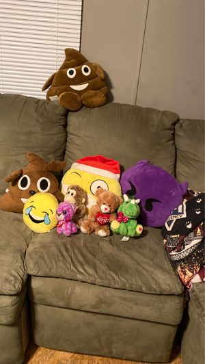 Stuffed emojis and animals for Sale in Louisburg, NC