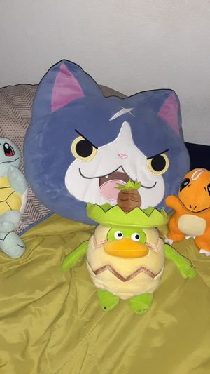 Pokemon/yo-kai plushies for Sale in Pleasanton, CA