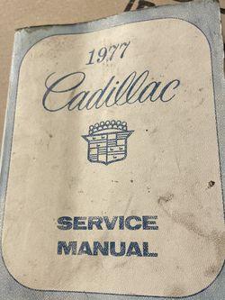 Cadillac 1977 Service Shop Manual Book for Sale in Los Angeles,  CA