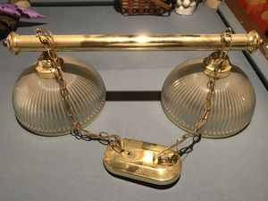 Polished Brass Light fixture. for Sale in Davidsonville, MD