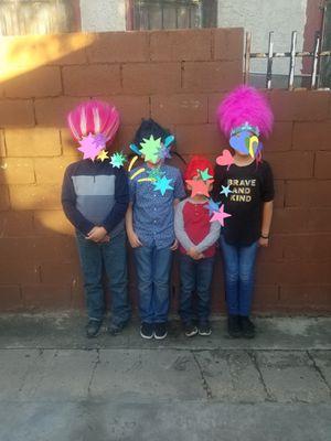 Trolls wigs each reparete price for Sale in Los Angeles, CA