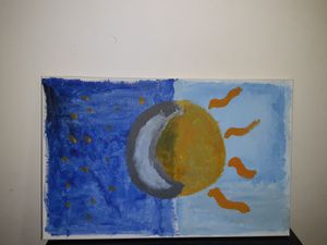 Moon & Sun painting for Sale in Powder Springs, GA