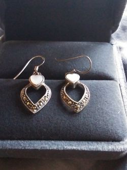 Silver Heart Earrings for Sale in McHenry,  IL